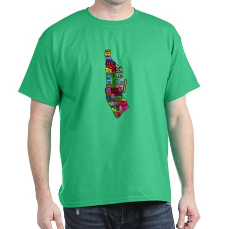NYC Color Coded Map Dark T-Shirt