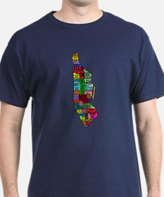NYC Color Coded Map T-Shirt