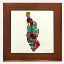 NYC Color Coded Map Framed Tile