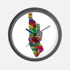 NYC Color Coded Map Wall Clock