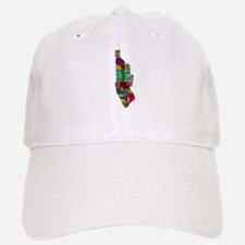NYC Color Coded Map Baseball Baseball Cap