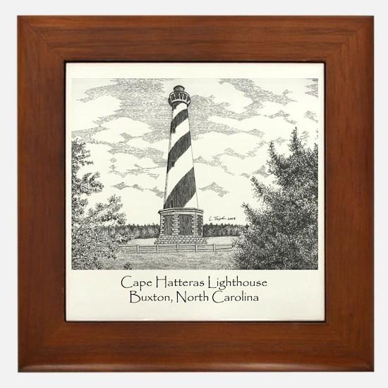 Cape Hatteras Lighthouse Framed Tile