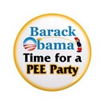 "Pee Party 3.5"" Button"