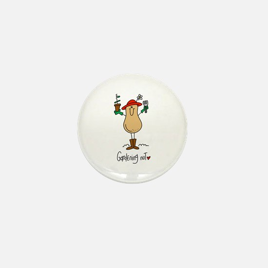 Gardening Nut Mini Button
