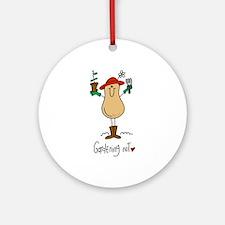 Gardening Nut Ornament (Round)