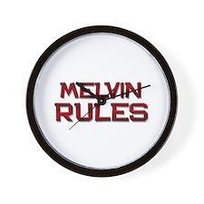 melvin rules Wall Clock