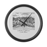 Little River Lighthouse Large Wall Clock