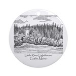 Little River Lighthouse Ornament (Round)