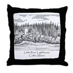Little River Lighthouse Throw Pillow