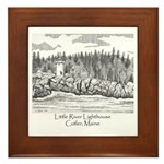 Little River Lighthouse Framed Tile