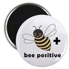 """Bee Positive 2.25"""" Magnet (10 pack)"""