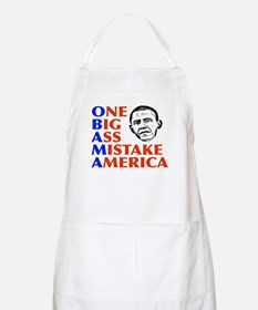 Obama: One Big Ass Mistake America BBQ Apron