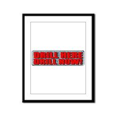 Drill Here Framed Panel Print