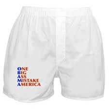 Obama: One Big Ass Mistake America Boxer Shorts