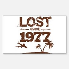 Lost with Sawyer since 1977 Rectangle Decal