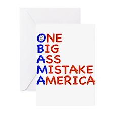 Obama: One Big Ass Mistake America Greeting Cards