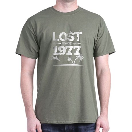 Lost with Sawyer since 1977 Dark T-Shirt