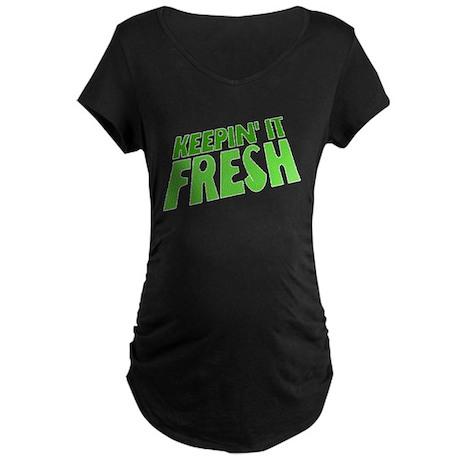 Keepin It Fresh Maternity Dark T-Shirt