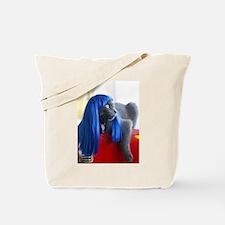 Wig Cat Tote Bag