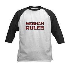 meghan rules Kids Baseball Jersey