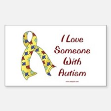 Autism Love Rectangle Decal