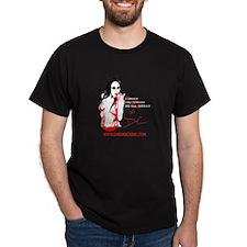 Darian Caine Fleur-de-Lis Black T-Shirt
