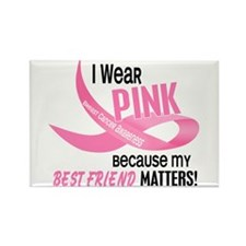 I Wear Pink For My Best Friend 33.2 Rectangle Magn