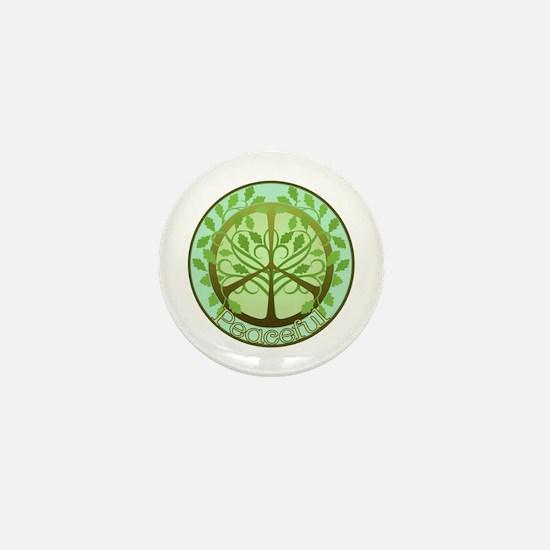 Peaceful Tree Mini Button