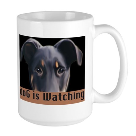 doG is watching Large Mug