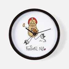 Football Nut Wall Clock