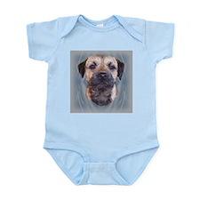 Border Terrier Head Study Infant Creeper