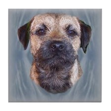 Border Terrier Head Study Tile Coaster