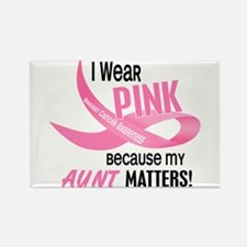 I Wear Pink For My Aunt 33.2 Rectangle Magnet