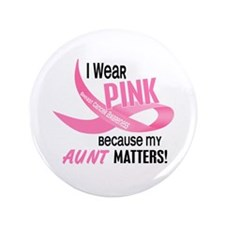 "I Wear Pink For My Aunt 33.2 3.5"" Button"