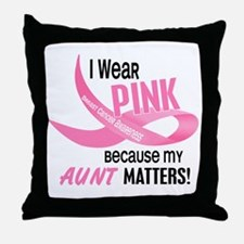 I Wear Pink For My Aunt 33.2 Throw Pillow
