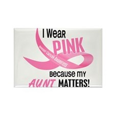 I Wear Pink For My Aunt 33.2 Rectangle Magnet (10