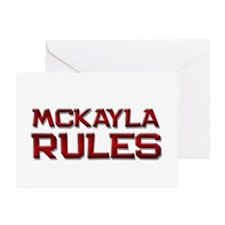 mckayla rules Greeting Card
