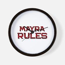 mayra rules Wall Clock