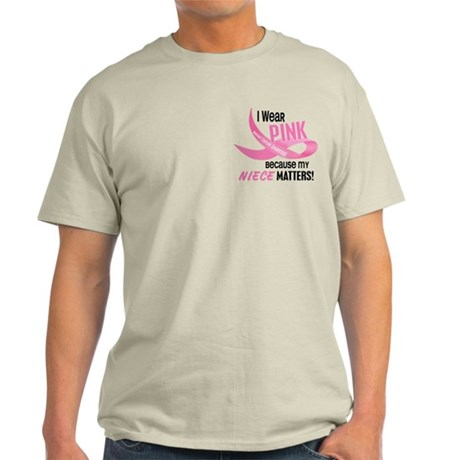 I Wear Pink For My Niece 33.2 Light T-Shirt
