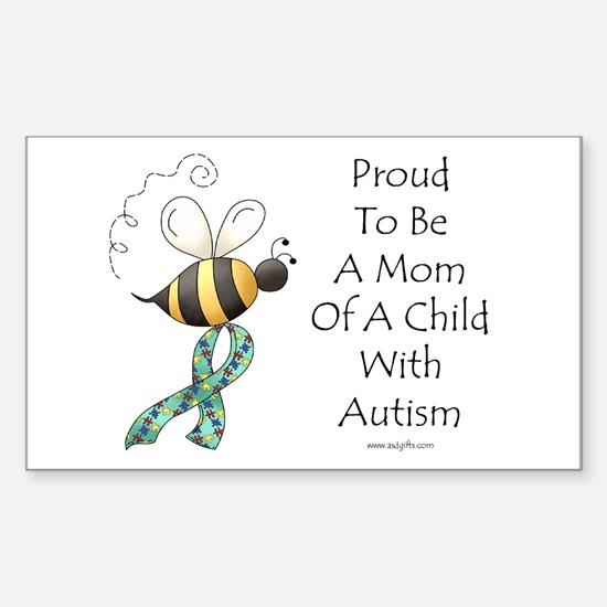 Autism Mom Rectangle Decal