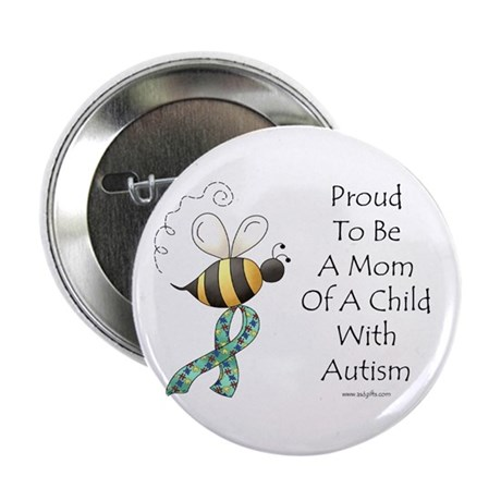 """Autism Mom 2.25"""" Button (100 pack)"""