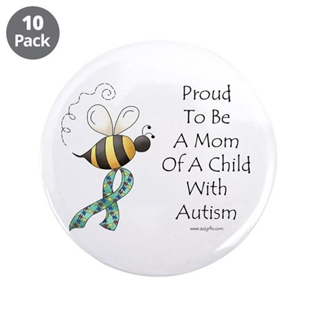 """Autism Mom 3.5"""" Button (10 pack)"""