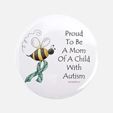 "Autism Mom 3.5"" Button"