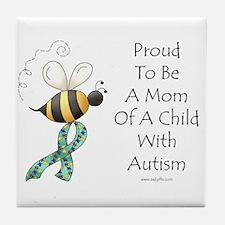 Autism Mom Tile Coaster