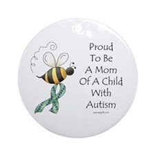 Autism Mom Ornament (Round)
