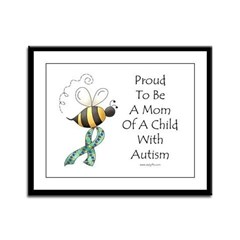 Autism Mom Framed Panel Print