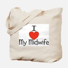 I heart my midwife Tote Bag