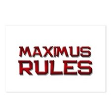 maximus rules Postcards (Package of 8)