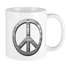 Metal rivet peace Mug