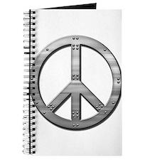 Metal rivet peace Journal